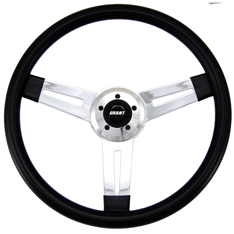 "Driver Series 3 Spoke Slot Cut 18"" Steering Wheel"