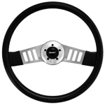 "Driver Series 2 Spoke Vertical Slot 18"" Steering Wheel"
