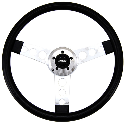 "Driver Series 3 Spoke Round Hole 18"" Steering Wheel"