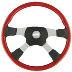 "Tour America 4 Spoke Red 18"" Steering Wheel"