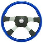 "Tour America 4 Spoke Blue 18"" Steering Wheel"