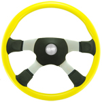 "Tour America 4 Spoke Yellow 18"" Steering Wheel"