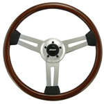 "Driver Wood Series 3 Spoke with Slots 18"" Steering Wheel"