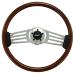 "Driver Wood Series 2 Spoke w/ Long Horizontal Slots 18"" Steering Wheel"
