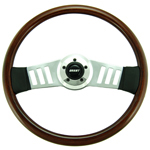 "Driver Wood Series 2 Spoke with Vertical Slots 18"" Steering Wheel"
