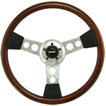"Driver Wood Series 3 Spoke with Round Holes 18"" Steering Wheel"
