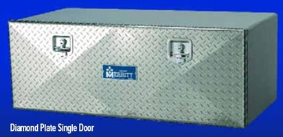 Aluminum Tool Box with Diamond Plate Single Door