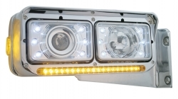 Crystal Projection Rectangular Headlight Bulb - High Beam Only