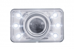 Crystal Projection Rectangular Headlight Bulb - Low Beam Only