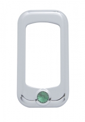 Peterbilt Rocker Switch Trim - Green Diamond