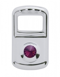 2006+ Peterbilt Rocker Switch Cover - Purple Diamond