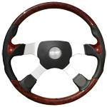 "Pathfinder Series 4 Spoke 17 3/4"" Steering Wheel w/ Thumb Inserts"