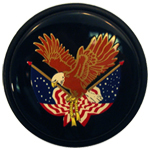 American Eagle Horn Button