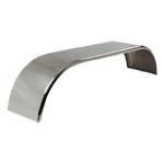 "Smooth Aluminum Full Rear Fender (24""H X 25""W X 105""L)"