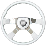 "Tour America Series 4 Spoke 18"" White Steering Wheel"