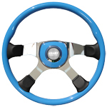 "Tour America Series 4 Spoke 18"" Blue Steering Wheel"