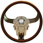 "Bull Wheel 3 Spoke 18"" Steering Wheel"