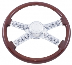 "Peterbilt 18"" Skull Steering Wheel (& Kenworth)"