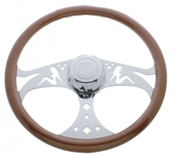 "Peterbilt/Freightliner/Kenworth 18"" Lady Steering Wheel"