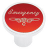 Universal Pin On Emergency Knob - Red