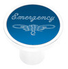 Universal Pin On Emergency Knob - Blue