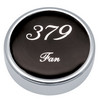 Peterbilt 379 Fan Knobs - Black