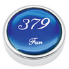 Peterbilt 379 Fan Knobs - Blue