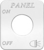 Freightliner FLD Classic Panel Lights On/Off Switch Plate
