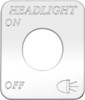 Freightliner FLD Classic Headlight On/Off Switch Plate