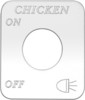 Freightliner FLD Classic Chicken Lights On/Off Switch Plate