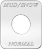Freightliner FLD Classic Mud/Snow Normal Switch Plate