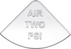 International Air Two PSI Gauge Emblem