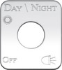 Kenworth Day/Night Lights On/Off Switch Plate