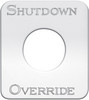Kenworth Shutdown Override Switch Plate