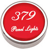 Peterbilt 379 Panel Light Knobs - Red