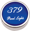 Peterbilt 379 Panel Light Knobs - Blue