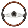 "Peterbilt 2 Spoke 18"" Fixed Column Steering Wheel with Leather"