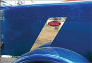 Peterbilt 389 Hood Emblem - Stripe Accent
