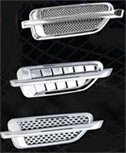 Universal Mesh/Louvered/Oval Hood Vent Accents - Pair