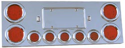 Universal Rear Center Panel with 4x4, 5x2, & 2 License Light Holes