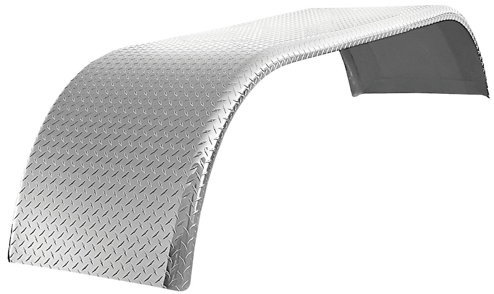 "120"" Checker Plate Full Fender w/ Rolled Edge (35""-54""-31"")"