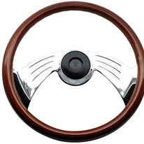 "Peterbilt 2 Spoke 18"" Wing Adjustable Column Steering Wheel"