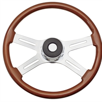 "Peterbilt 4 Spoke 18"" Fixed Column Steering Wheel"