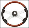 "Kenworth 4 Spoke 18"" Adjustable Steering Wheel with Leather"