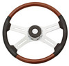 "Freightliner 4 Spoke 18"" Fixed/Adjustable Column Steering Wheel w/ Leather"