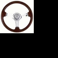 "Freightliner 3 Spoke 18"" Fixed/Adjustable Column Wing Steering Wheel"