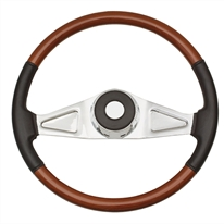 "Freightliner 2 Spoke 18"" Fixed/Adjustable Column Steering Wheel w/ Leather"